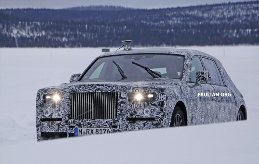 SPYSHOTS: New Rolls-Royce Phantom on winter test Image #439929
