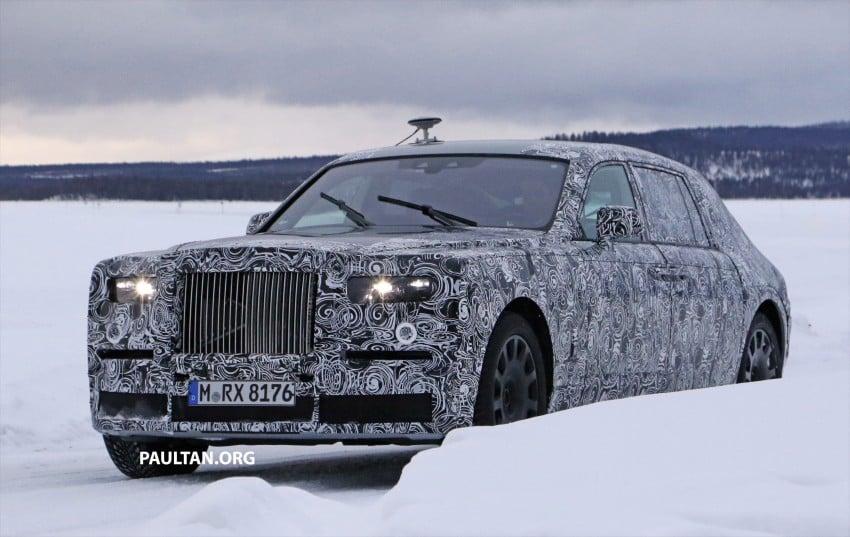 SPYSHOTS: New Rolls-Royce Phantom on winter test Image #439930