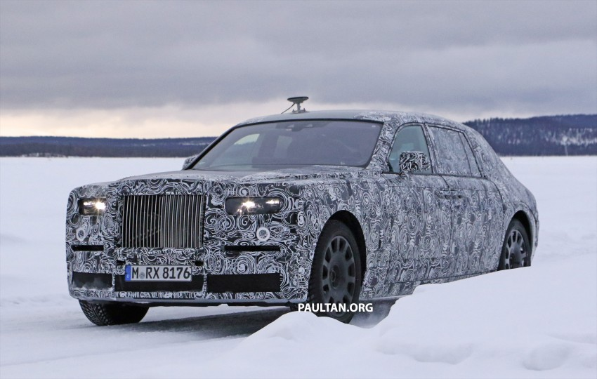 SPYSHOTS: New Rolls-Royce Phantom on winter test Image #439932