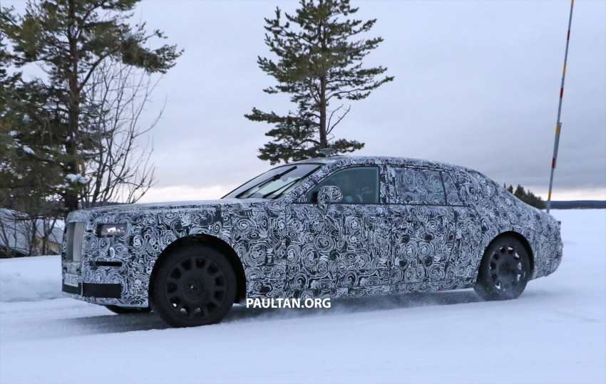 SPYSHOTS: New Rolls-Royce Phantom on winter test Image #439934