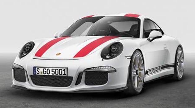2017 Porsche 911 R leak 1