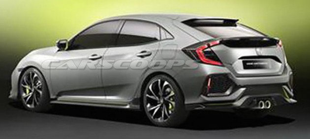 Honda Civic Hatchback Prototype leak 3