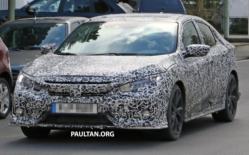 SPIED: 2017 Honda Civic hatchback makes the rounds Image #449679