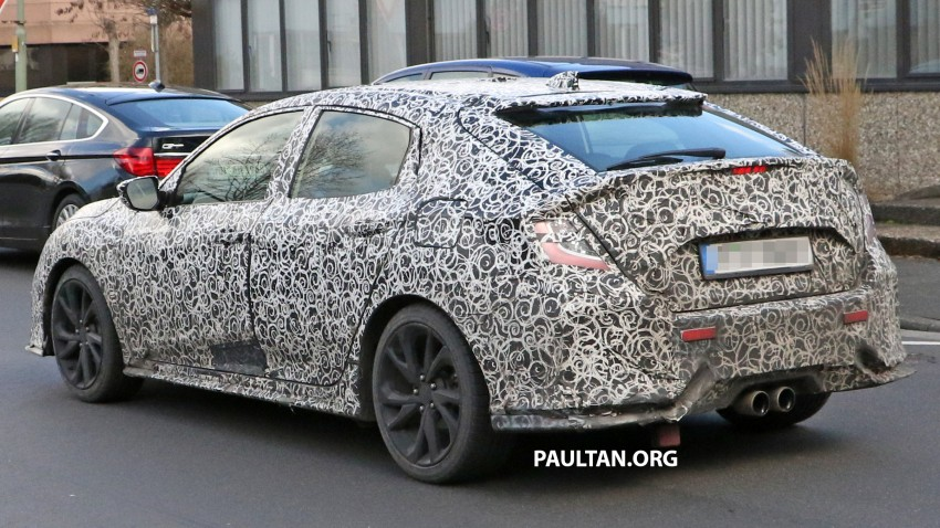 SPIED: 2017 Honda Civic hatchback makes the rounds Image #449684