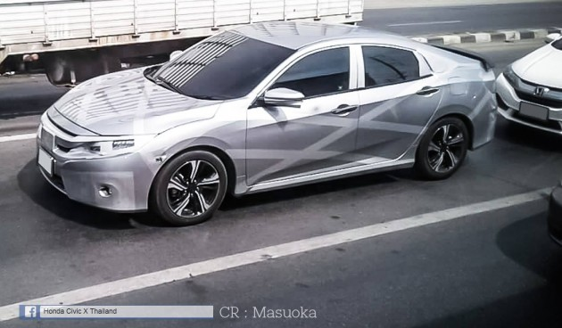 Honda Civic tenth gen spied Thailand 1