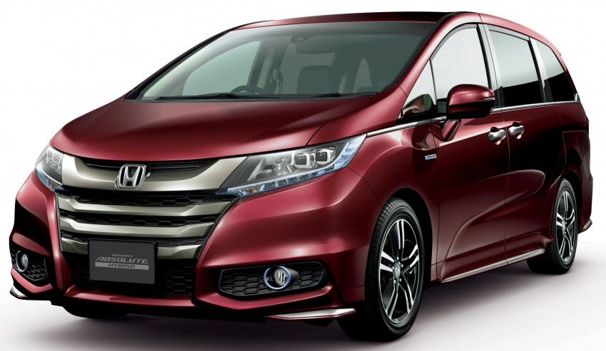watch as honda launches high mpg odyssey hybrid minivan in japan 2017 2018 best cars reviews. Black Bedroom Furniture Sets. Home Design Ideas