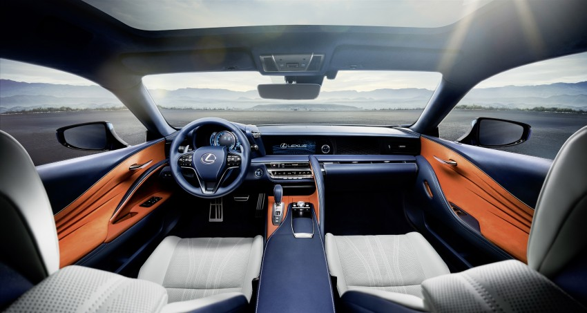 2016 Lexus LC 500h detailed – new Multi Stage Hybrid System uses lithium-ion battery and a four-speed auto Image #443970