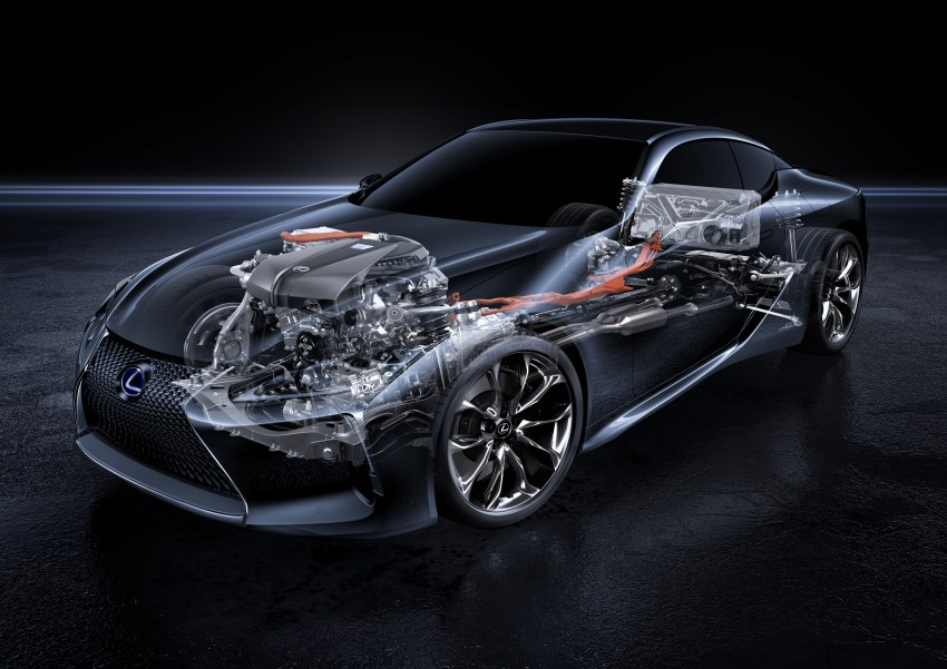 2016 Lexus LC 500h detailed – new Multi Stage Hybrid System uses lithium-ion battery and a four-speed auto Image #443935