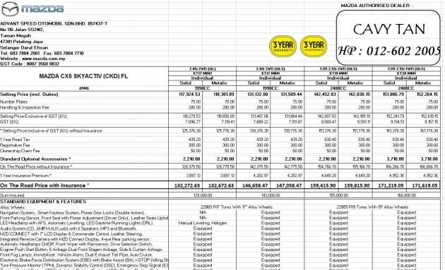 Mazda Cx 5 Facelift Ckd Prices Revealed 2 5l Models Now