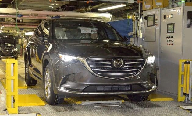 Mazda CX-9 production begins 1