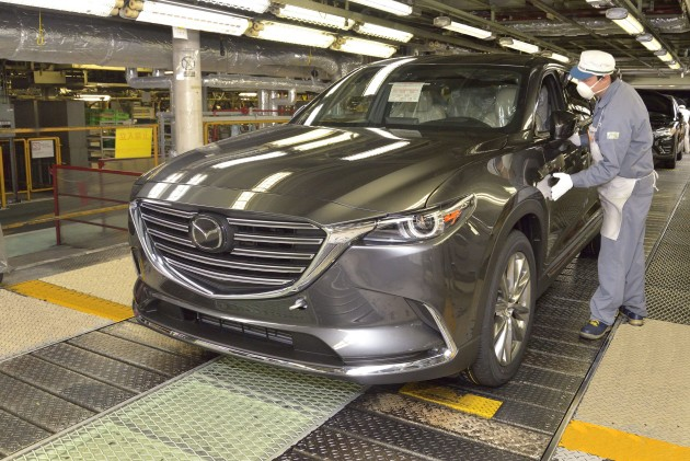 Mazda CX-9 production begins 2
