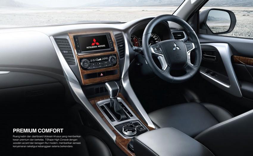 Mitsubishi Pajero Sport SUV baharu dilancarkan di Indonesia – enjin 2.4L baharu dan 2.5L lama Image #437046