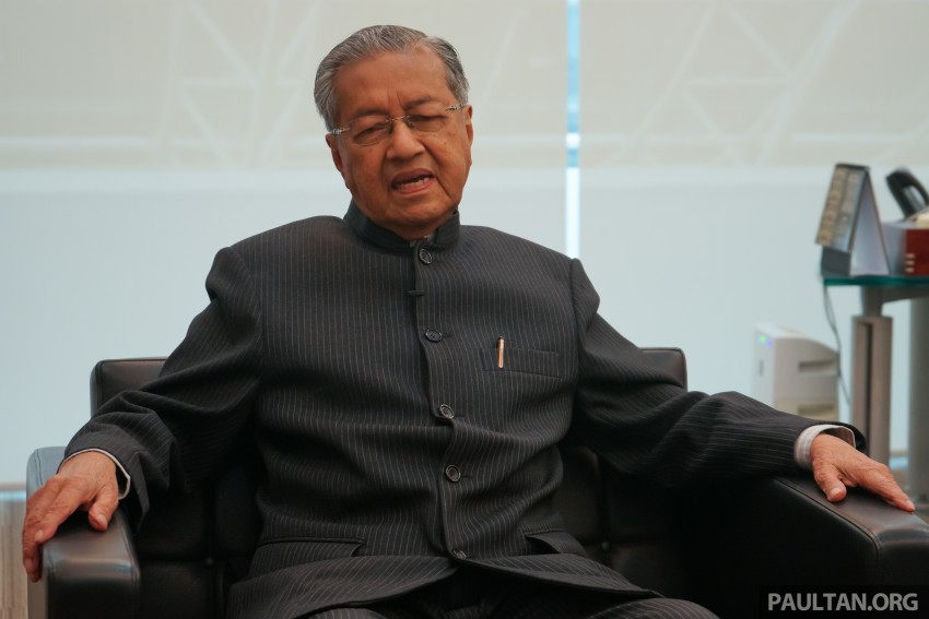 """We will never progress if we just rebadge, we might as well just import cars,"" said Proton's Tun Mahathir Image #444380"