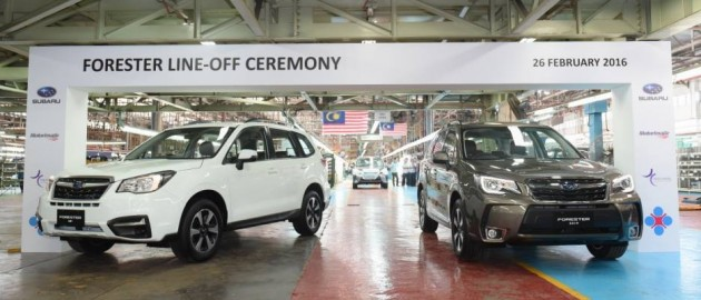 Subaru Forester facelift CKD production Malaysia begins