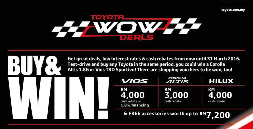 Toyota Wow Deals Offer Rebates And Low Interest Rates | Upcomingcarshq.com