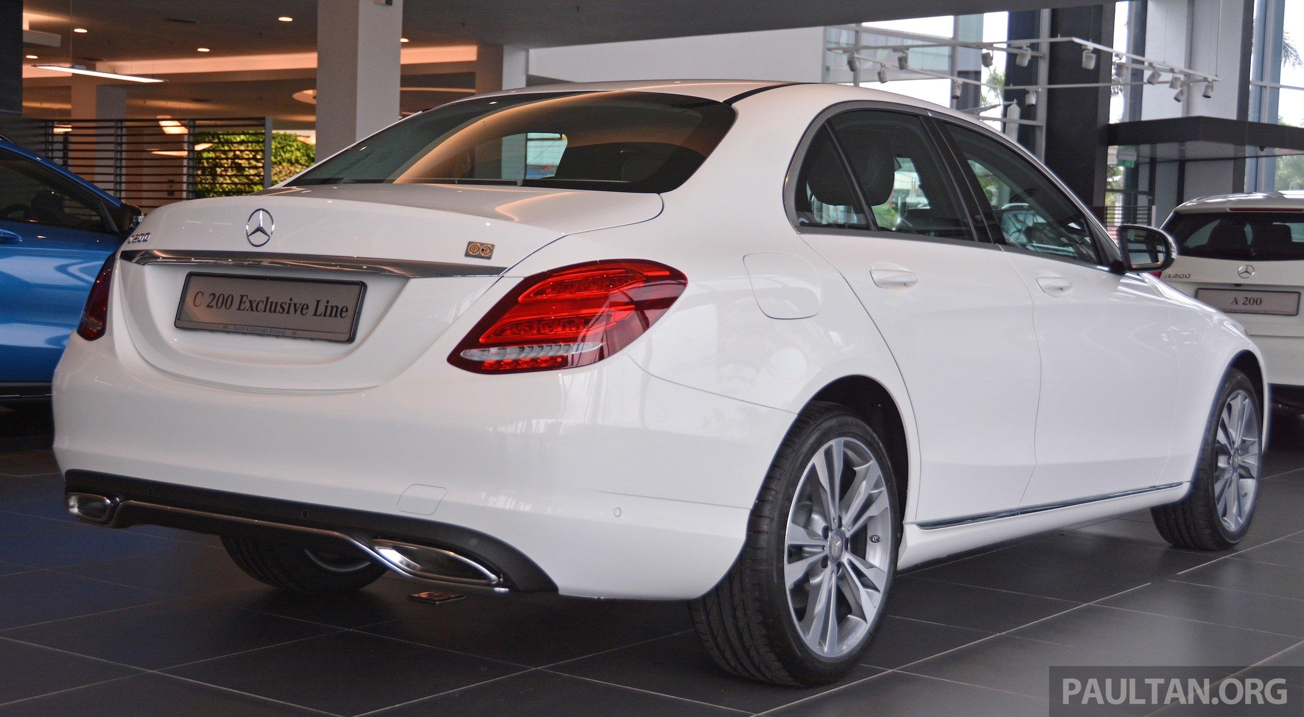 W205 Mercedes-Benz C200 Exclusive in M'sia, RM253k Paul ...
