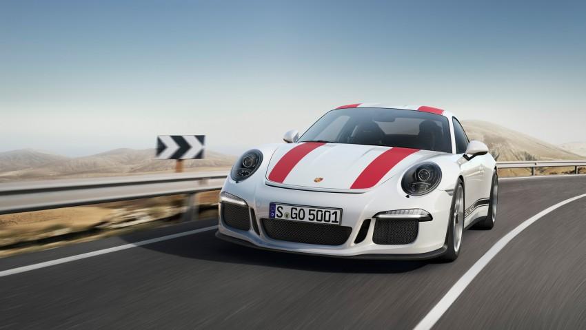 Porsche 911 R makes Geneva debut – 500 hp, manual Image #451907