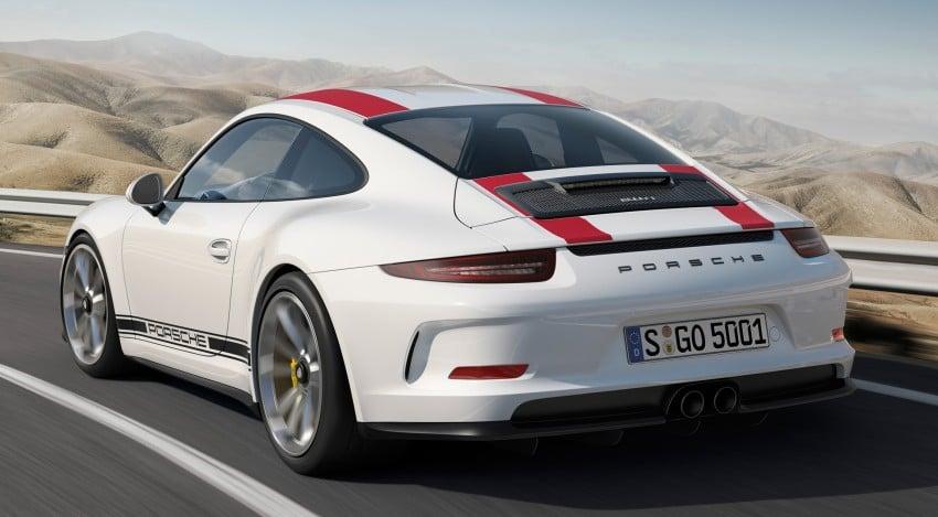 Porsche 911 R makes Geneva debut – 500 hp, manual Image #451909