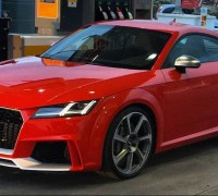 2016 Audi TT RS spyshot Spain