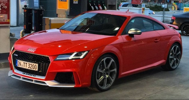 2016 Audi TT RS spyshot Spain