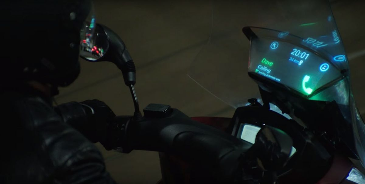 Samsung phone talks through your motorcycle screen