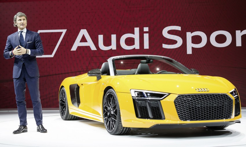 Audi R8 Spyder V10 debuts at New York Auto Show Image #466026