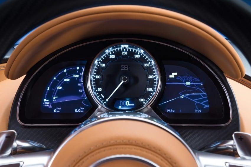 Bugatti Chiron debuts – 1,500 PS, 1,600 Nm, 420 km/h Image #451004