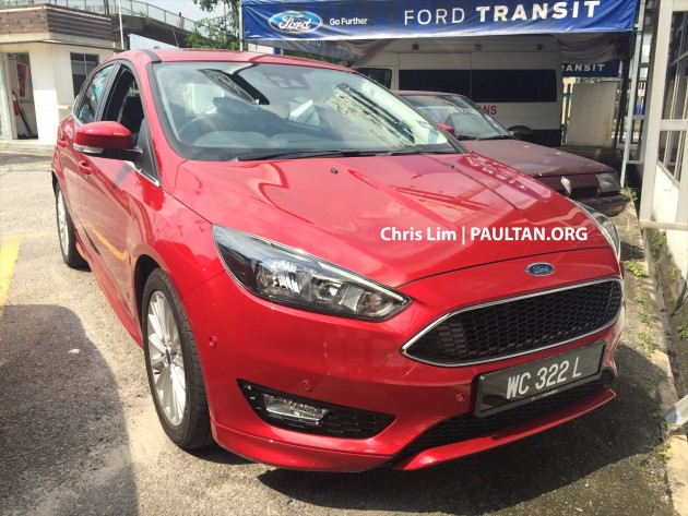 Spied Ford Focus Facelift In Malaysian Showroom Interior Revealed