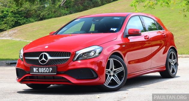 driven mercedes benz a250 sport facelift in malaysia. Black Bedroom Furniture Sets. Home Design Ideas