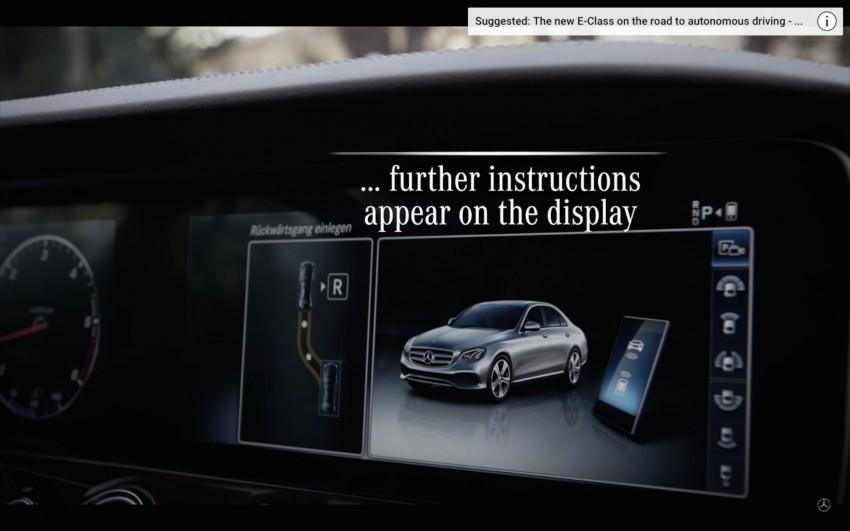 VIDEO: W213 Mercedes E-Class Remote Parking Pilot Image #456623