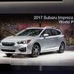 2017 Subaru Impreza five-door hatchback 1