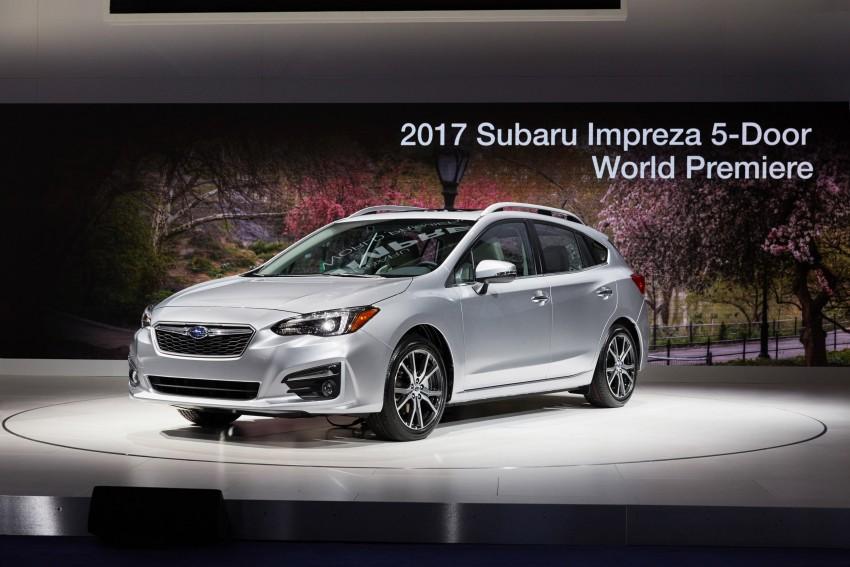 2017 Subaru Impreza sedan and hatch go live in NY Image #465837