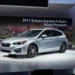 2017 Subaru Impreza five-door hatchback 2