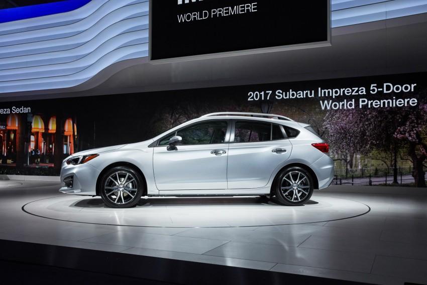 2017 Subaru Impreza sedan and hatch go live in NY Image #465839