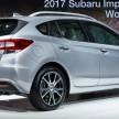 2017 Subaru Impreza five-door hatchback 4
