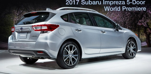 2017 Subaru Impreza five-door hatchback 4
