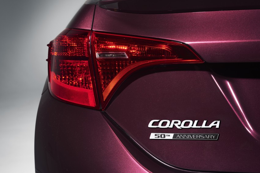 2017 Toyota Corolla facelift for North America revealed, plus a 50th anniversary Special Edition Image #467051