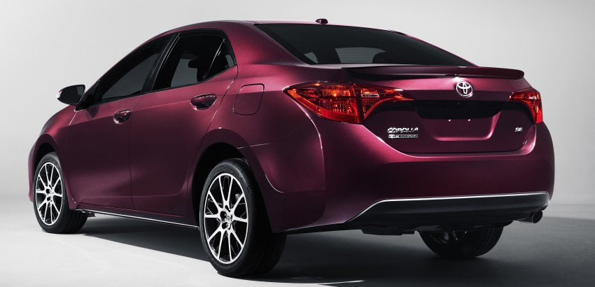 2017 Toyota Corolla facelift for North America revealed, plus a 50th anniversary Special Edition Image #467041