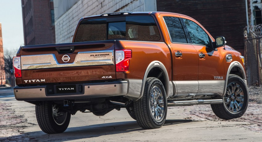 2017 Nissan Titan Crew Cab unveiled at New York; 5.0 litre Endurance V8 now available on larger Titan XD Image #466742