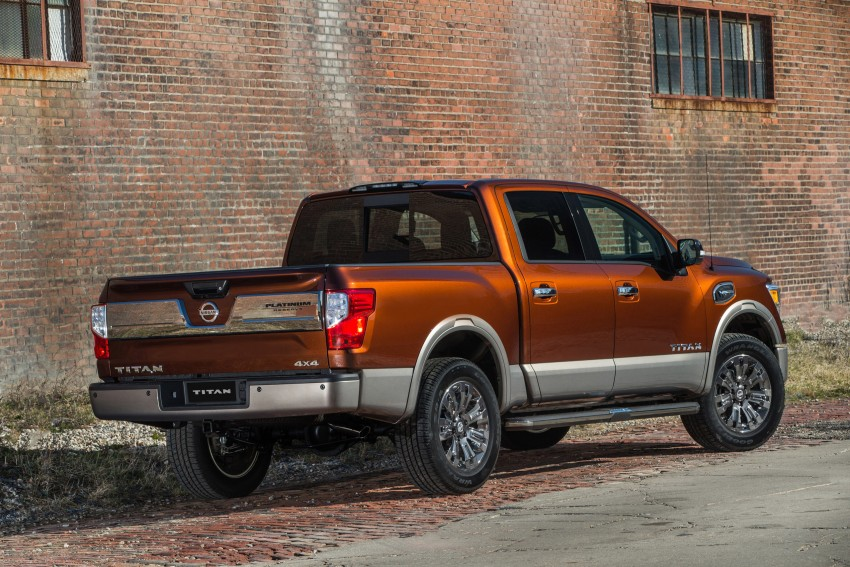 2017 Nissan Titan Crew Cab unveiled at New York; 5.0 litre Endurance V8 now available on larger Titan XD Image #466743