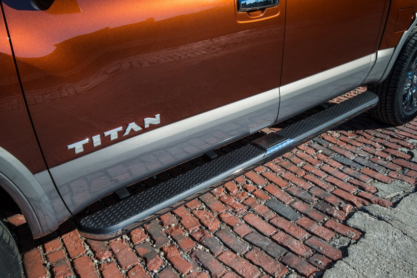 2017 Nissan Titan Crew Cab unveiled at New York; 5.0 litre Endurance V8 now available on larger Titan XD Image #466745