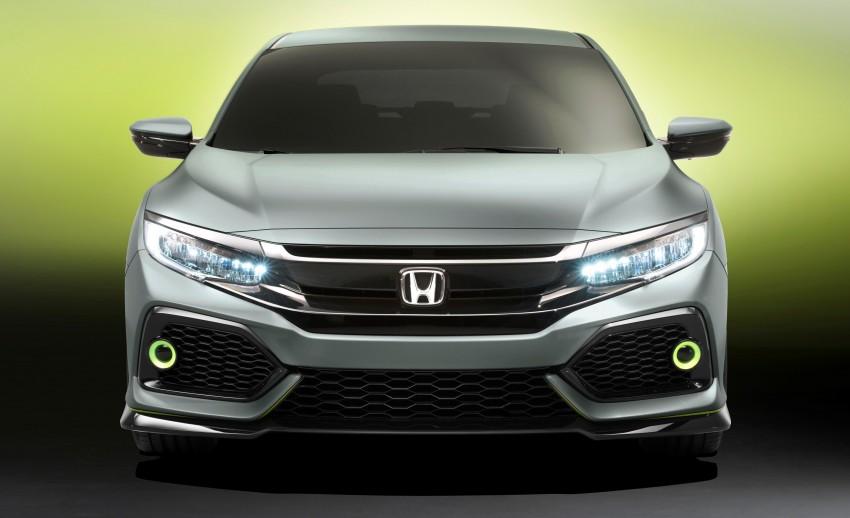 Honda Civic Hatchback membuat penampilan sulung di Geneva Motor Show – bakal dilancar pada 2017 Image #452119