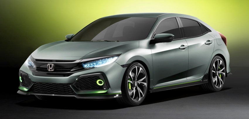 Honda Civic Hatchback Prototype goes live in Geneva; early 2017 launch for Europe, US market to follow Image #451514