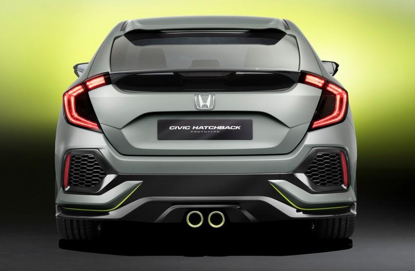 Honda Civic Hatchback membuat penampilan sulung di Geneva Motor Show – bakal dilancar pada 2017 Image #452087