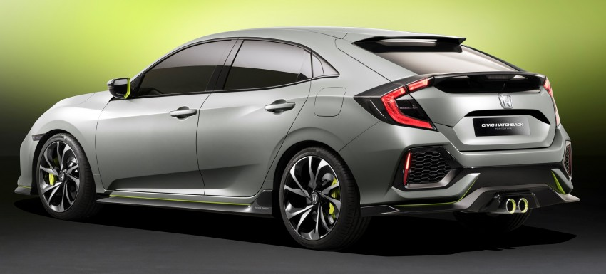 Honda Civic Hatchback Prototype goes live in Geneva; early 2017 launch for Europe, US market to follow Image #451512