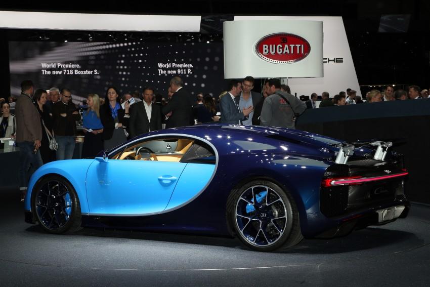 Bugatti Chiron debuts – 1,500 PS, 1,600 Nm, 420 km/h Image #452317