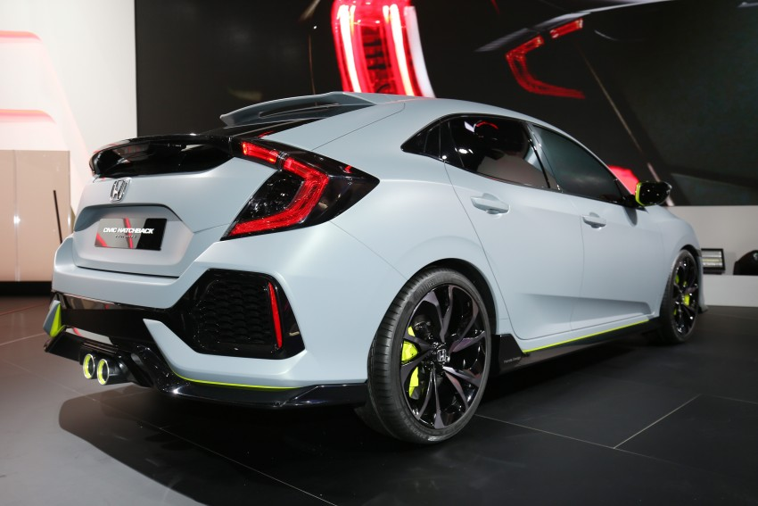Honda Civic Hatchback Prototype goes live in Geneva; early 2017 launch for Europe, US market to follow Image #454427