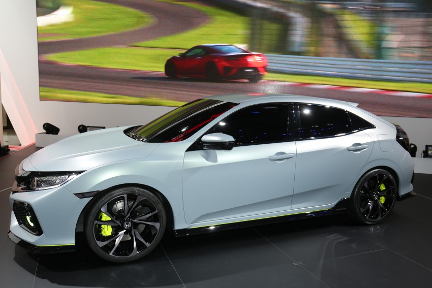 Honda Civic Hatchback Prototype goes live in Geneva; early 2017 launch for Europe, US market to follow Image #454425