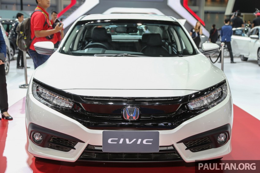 2016 Honda Civic Turbo RS at the Bangkok International Motor Show