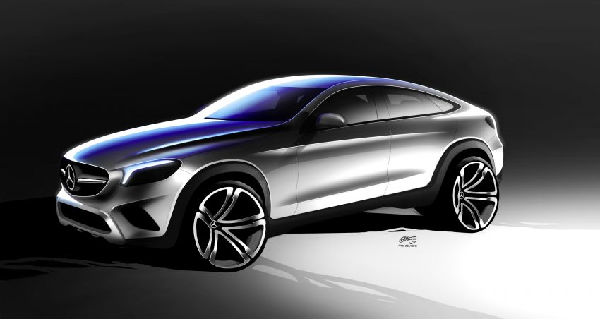 Mercedes-Benz GLC Coupe breaks cover in New York Image #515966